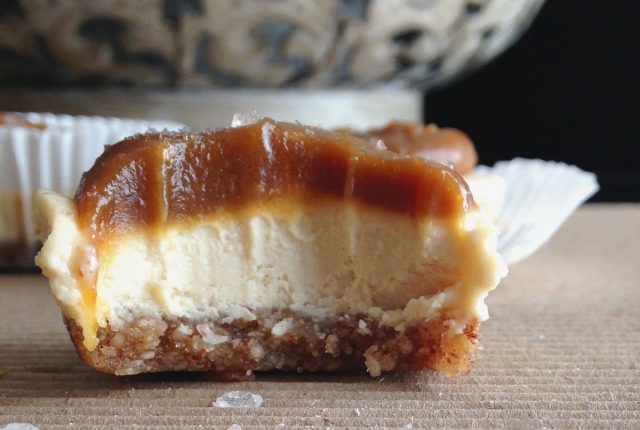 Salted Caramel Cheesecake Bites