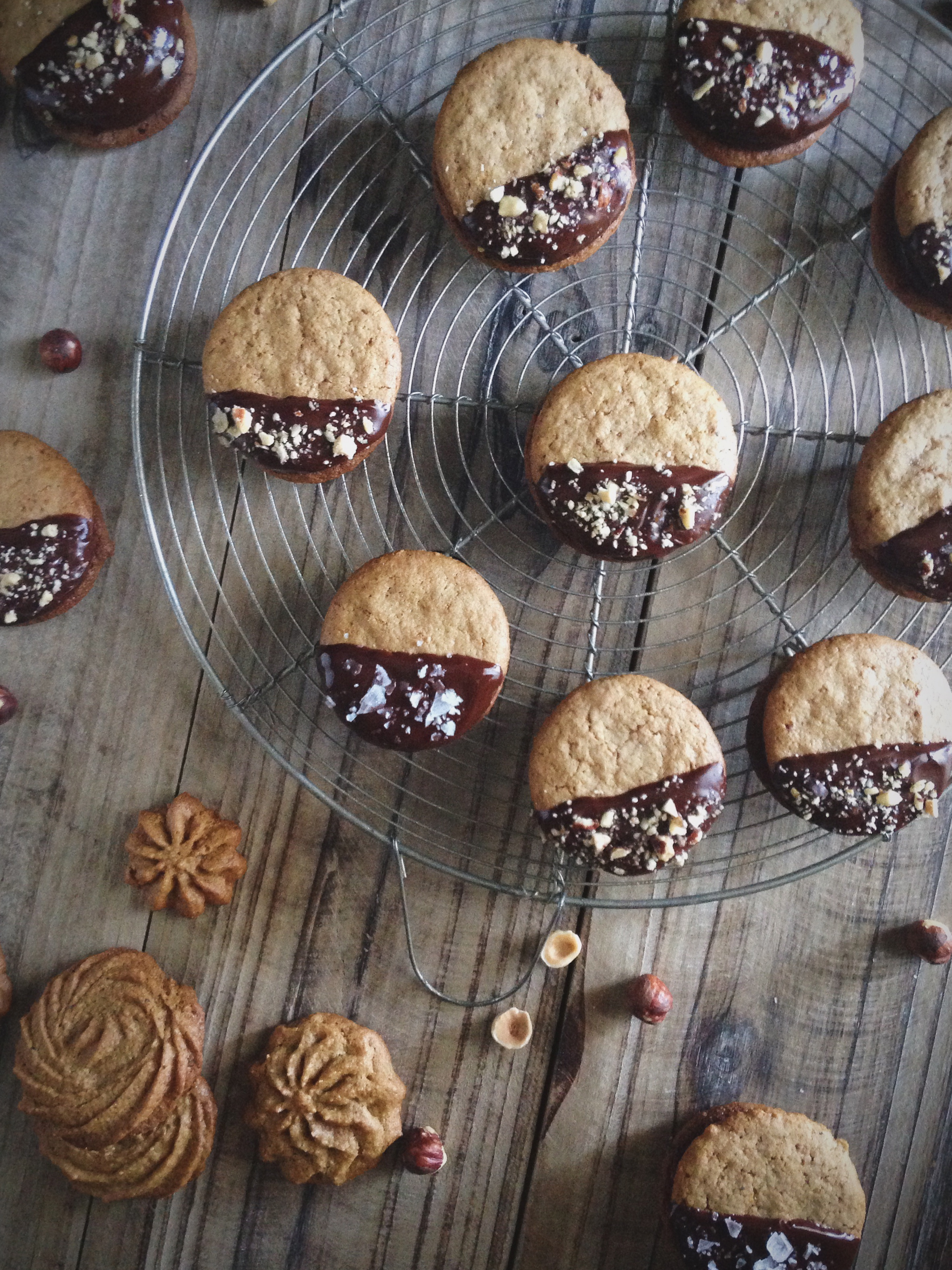 Hazelnut Butter Sandwich Cookies