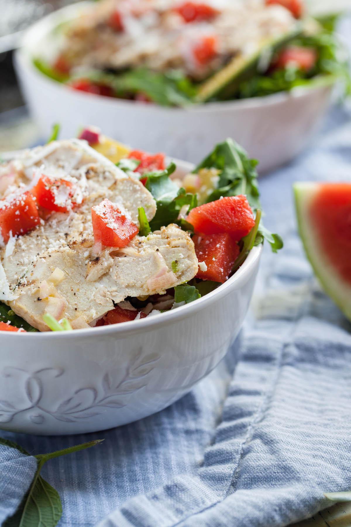 Watermelon Arugula Salad